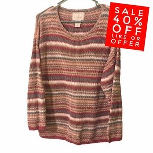 Express Tricot Handknitted Sweater Striped Vintage